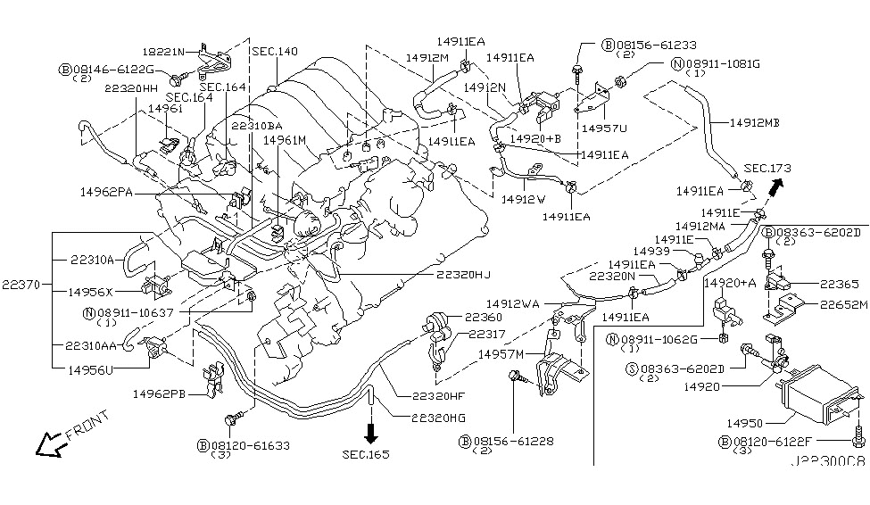 2008 nissan pathfinder engine diagram