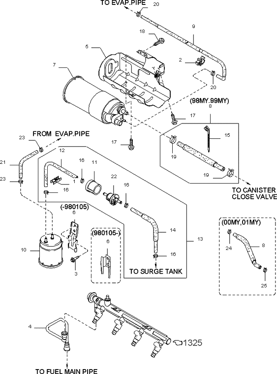 1996 Kia Sephia Engine Diagram Vacuum