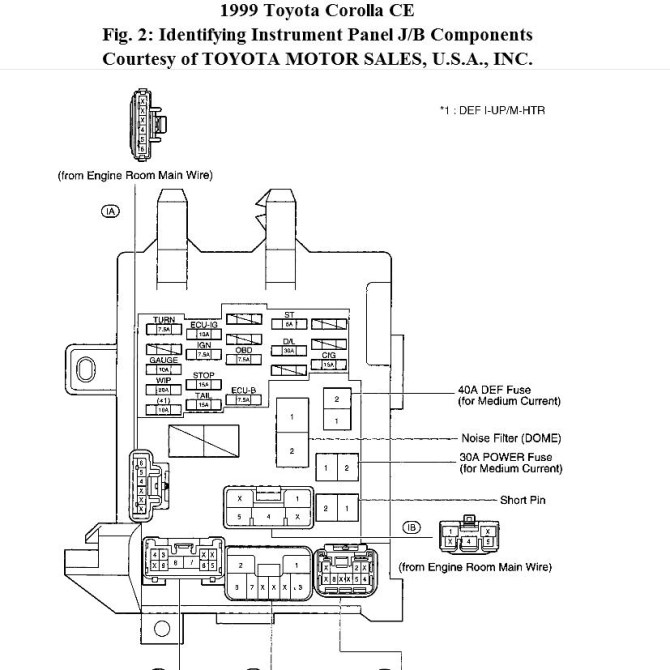 diagram 2003 toyota corolla fuse box diagram exploded full