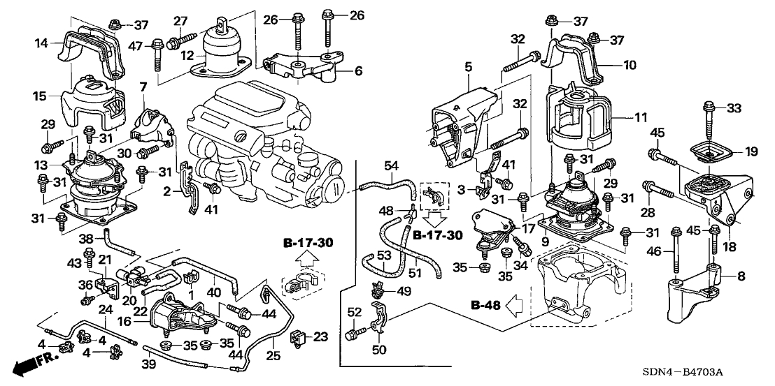 2005 Honda Accord V6 Engine Explosion Diagram. Honda. Auto