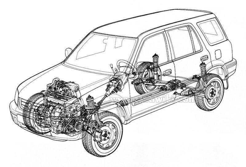 2001 Honda Crv Diagram. Honda. Auto Parts Catalog And Diagram