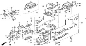 Honda Online Store : 1995 Civic Exhaust System Parts