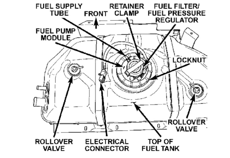 Service manual [Installing Fuel Distributor 2003 Jeep