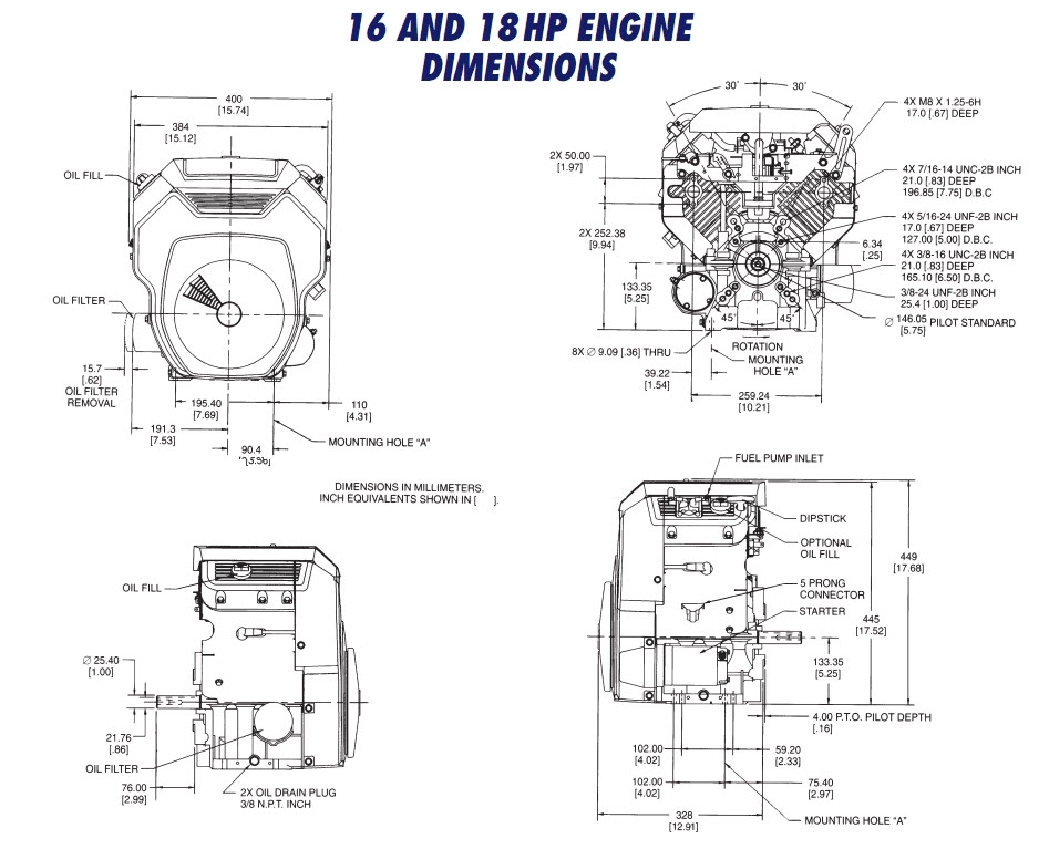Ohc16 Ohc18 Th16 Th18 Drawing : Kohler Engines And Parts
