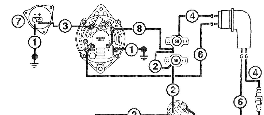 Marine Alternator Wiring Single Wire Alternator Wiring