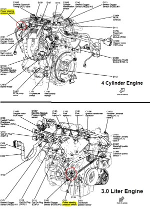 2010 Ford Fusion Engine Diagram | Automotive Parts Diagram