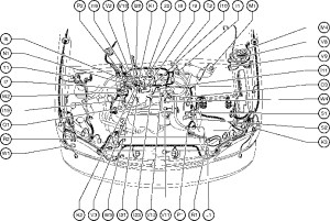 Position Of Parts In Engine Compartment  Toyota Sienna
