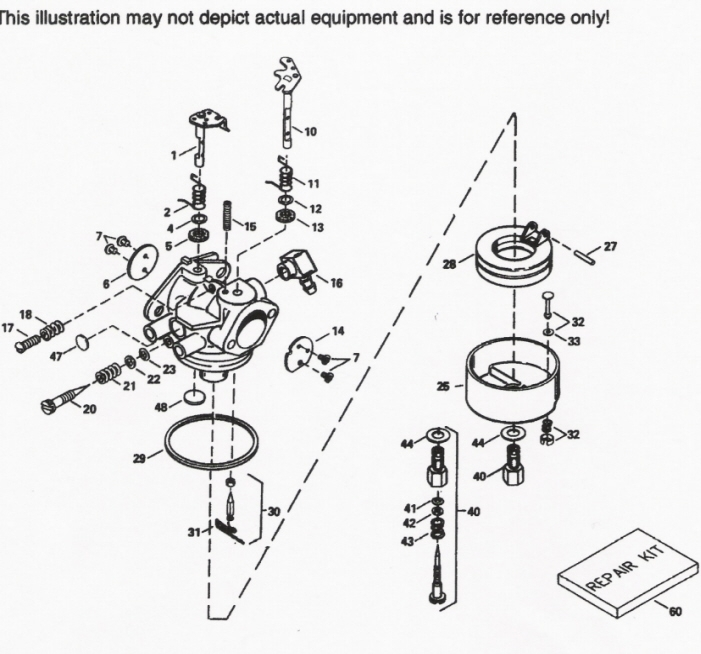 Repairing A Tecumseh Carburetor with Carburetor Diagram