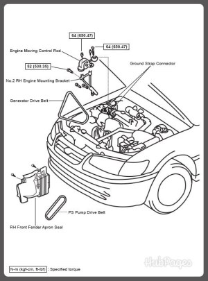 1994 Toyota Camry Engine Diagram | Automotive Parts