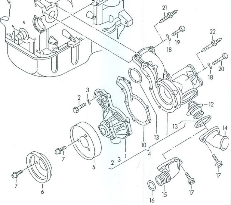 Water Pump Replacement For Mk3 Tdi: Jetta And Passat-1Z