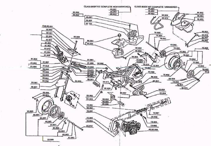 110cc chinese atv engine diagram