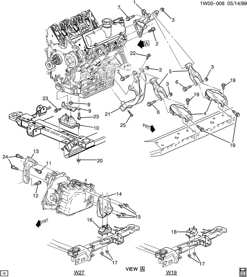 2000 chevrolet impala engine diagram