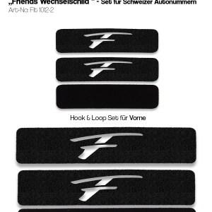 Flatee Friends rahmenlose Kennzeichenhalter für 2 Autos mit Wechselkennzeichen
