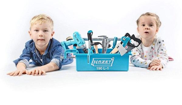 Kinder mit Werkzeugkasten Hazet