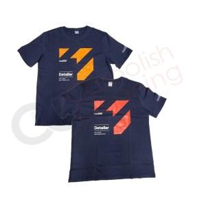 CarPro Tshirts dunkelblau mit orangem oder roten Aufdruck