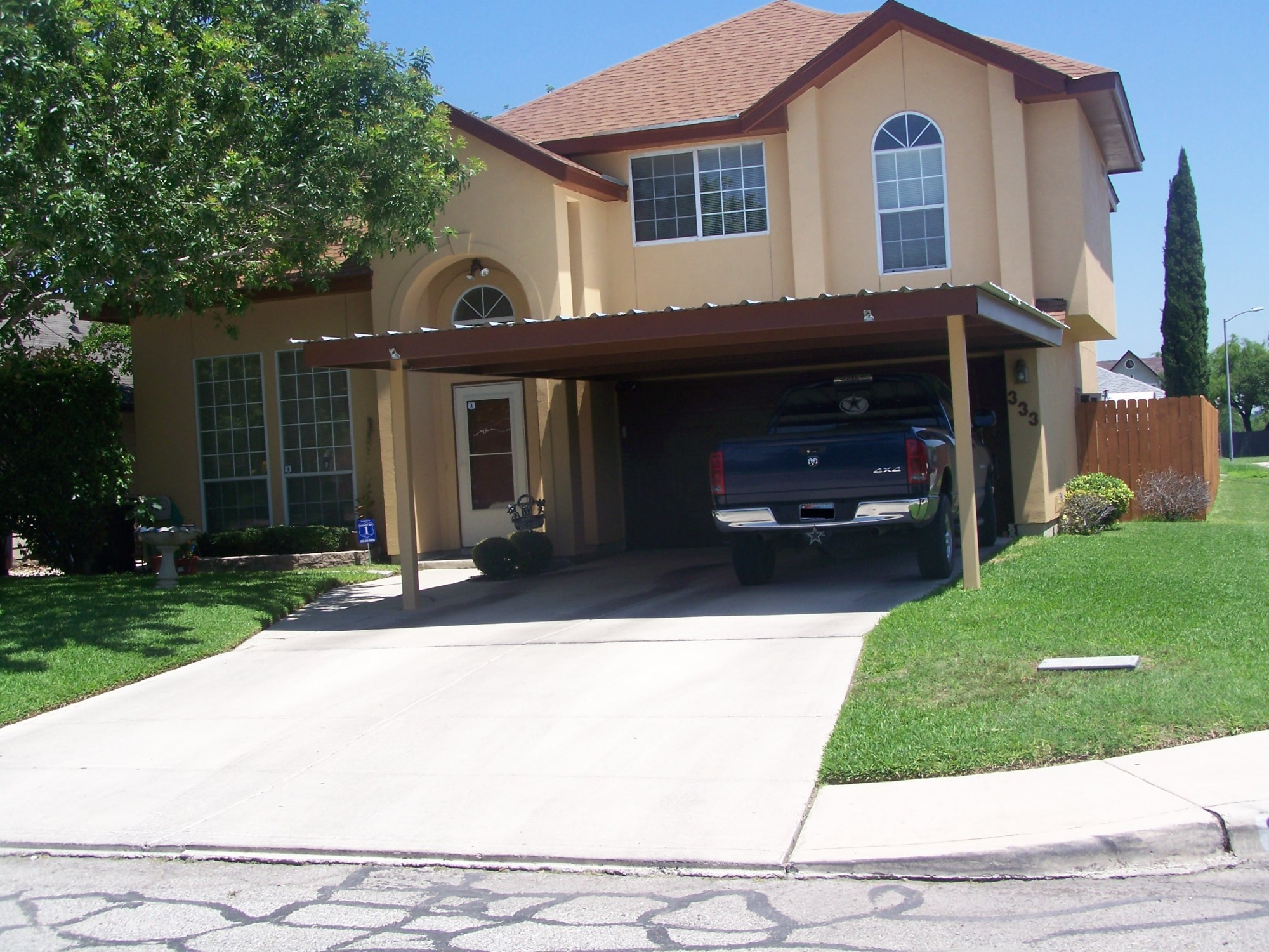 hight resolution of attached two post custom two car carport south san antonio