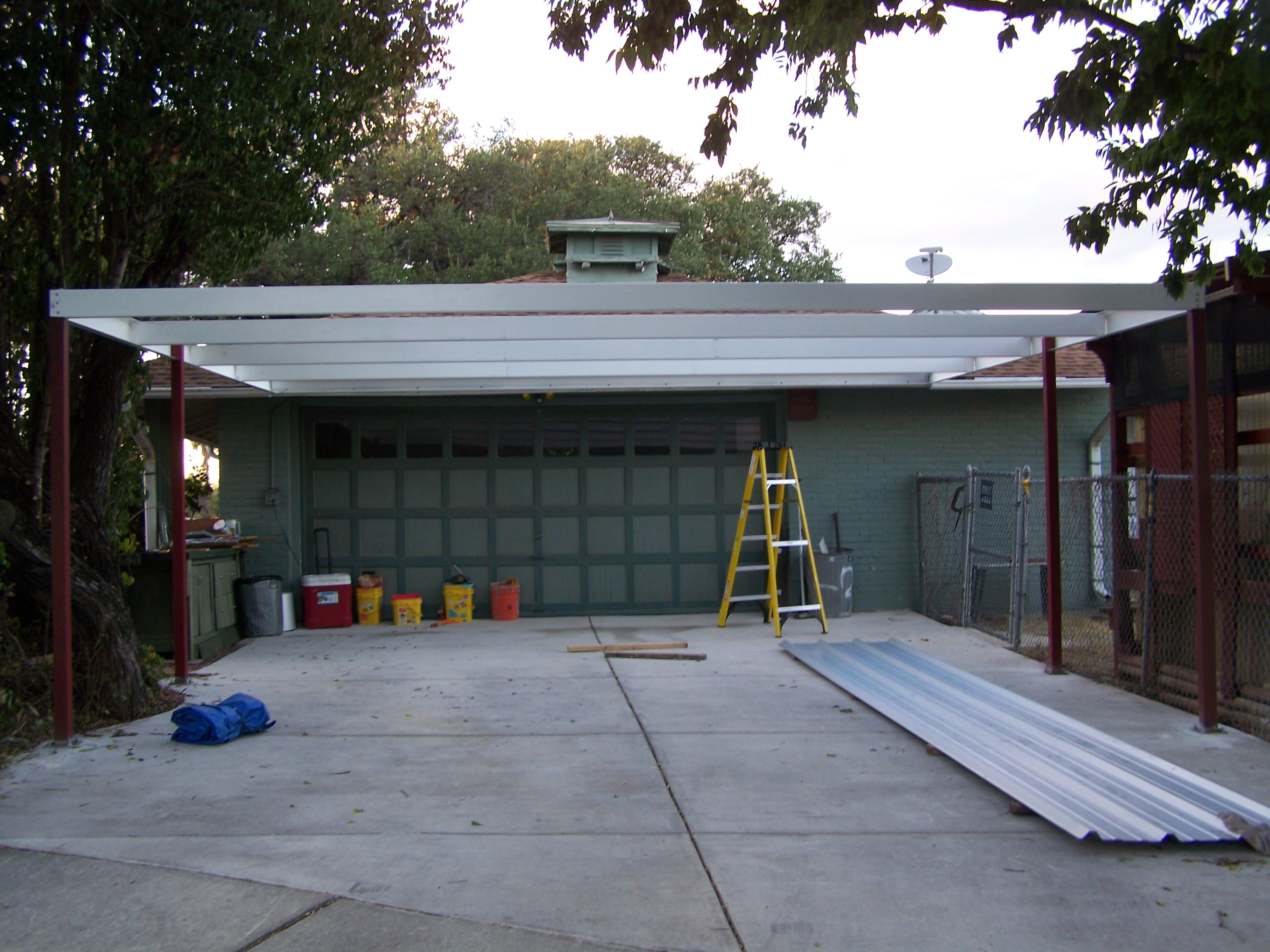 Simple Lean To Carport X San Antonio Texas