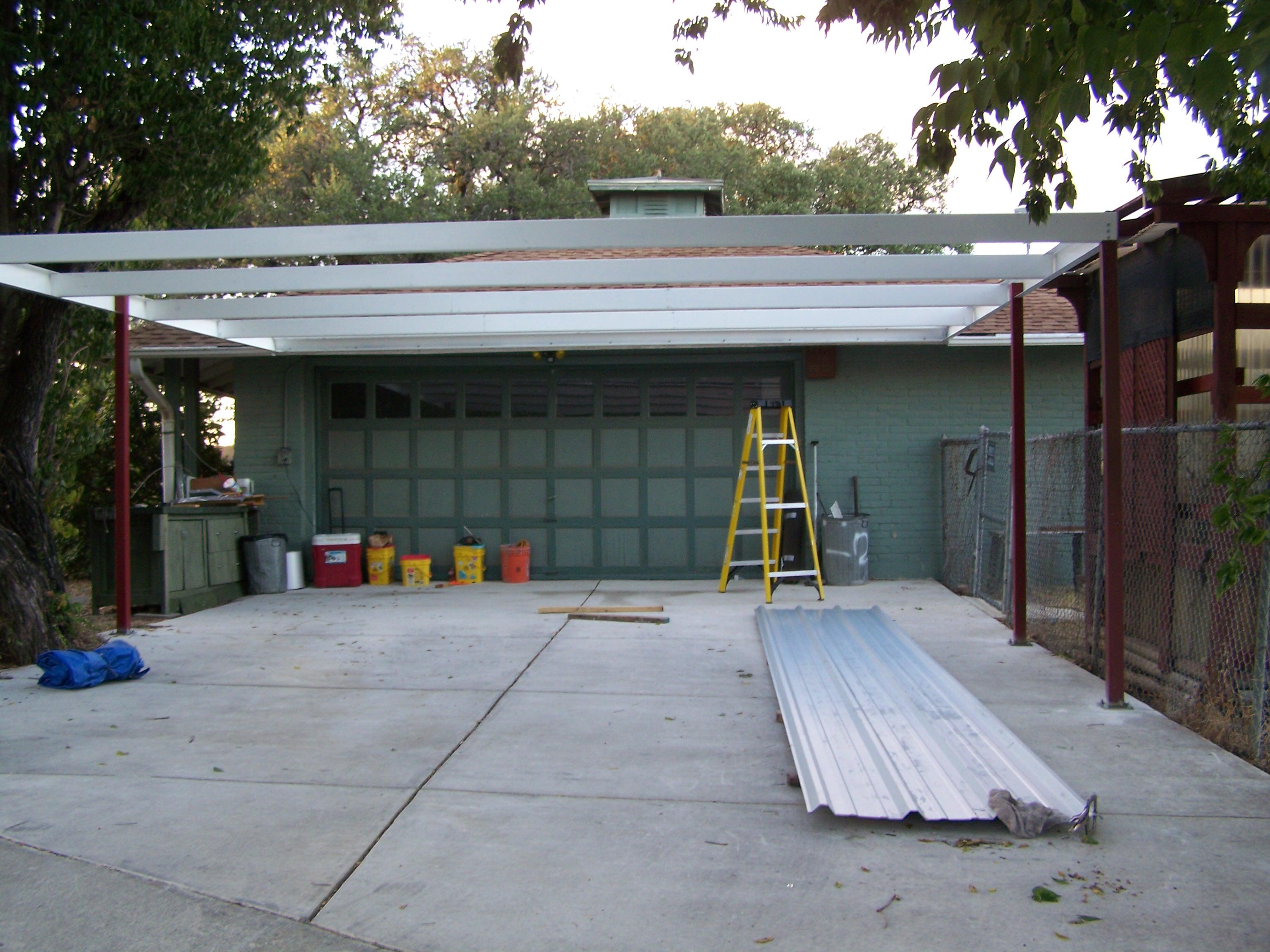 Simple Lean To Carport 21 X22 San Antonio Texas