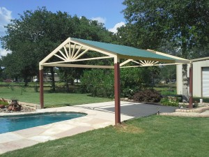 Custom Free Standing Awning Over Swimming Pool La Vernia Texas  Carport Patio Covers Awnings