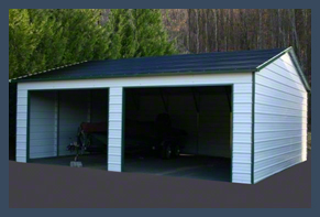 Steel Buildings Carport two Car