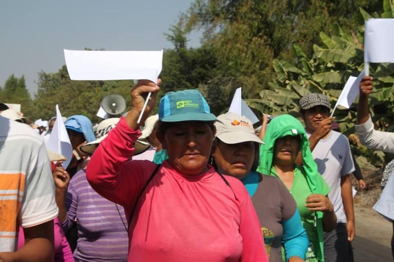 Segunda movilización del pueblo de Los Molinos que exigen libertada para Miriam y Sofía encarceladas en penal de Ica. Fotos: CODEHICA