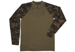 Long Sleeve Zipped Top Khaki:Camo