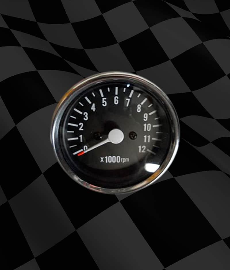 25 Inch Tachometer  Carpys Cafe Racers