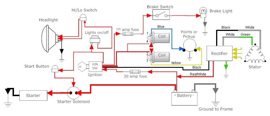 honda cb750 chopper wiring diagram residential electrical symbols u2022 rh bookmyad co Goldwing Honda Motorcycle Wiring Diagrams 1981 honda goldwing wiring diagram