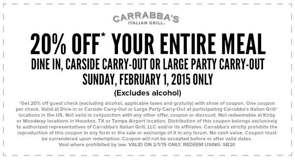 Carrabba S Gift Card Promo Code Lamoureph Blog
