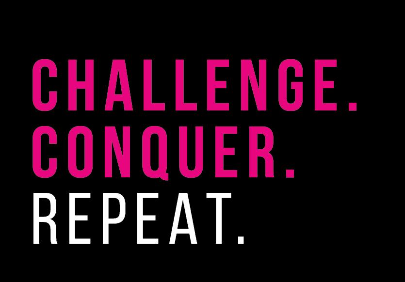 Challenge Conquer Repeat Logo