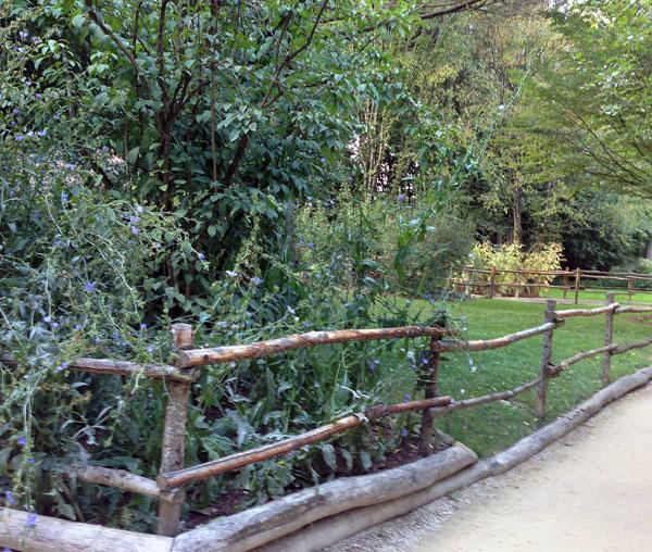 Barrires de jardin en bois