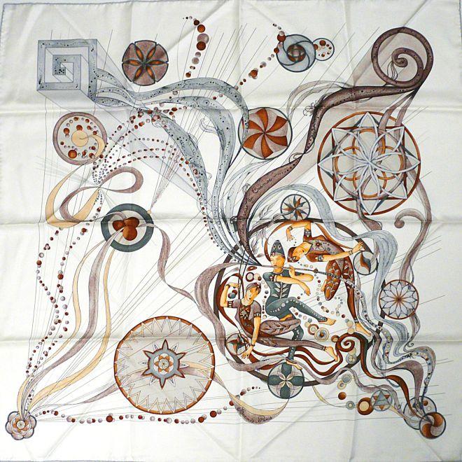 La Danse du Cosmos HERMES Silk Carre 90 cm Zoe Pauwels