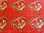 French Stamp De Tout Coeur HERMES
