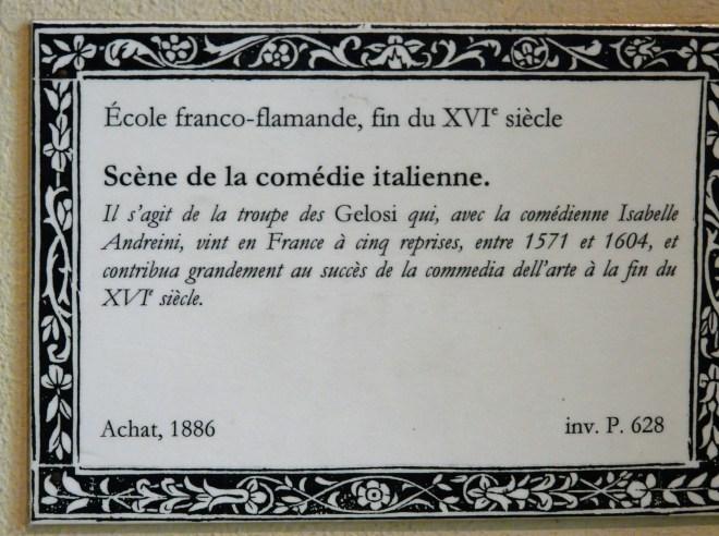 La Comedie Italienne, Painting Description, Musée Carnavalet