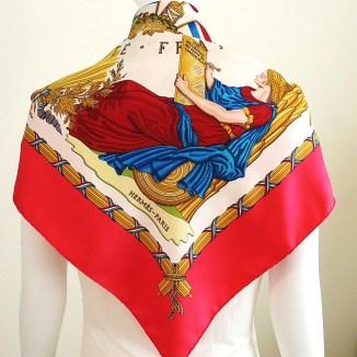 Republique Francaise HERMES Silk Scarf