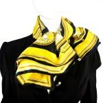 Wedgwood HERMES Silk Scarf Vintage Black-8