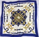 Eperon d'Or Hermes Scarf Blue