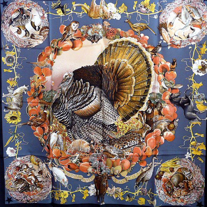 Happy Thanksgiving Faune et Flore Du Texas - Texas Wildlife HERMES Carre