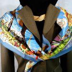 Les Ameriques HERMES Silk Carre 36 inch