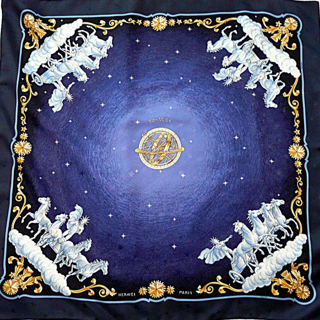 Cosmos Silk Jacquard HERMES