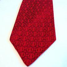 Faconnee Jacquard True Red Hermes Silk Tie