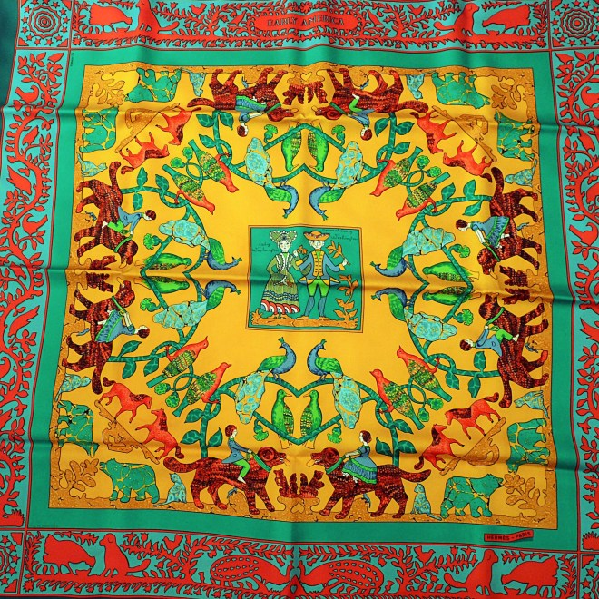 Early America HERMES 90 cm Silk Scarf