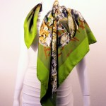 Gibiers HERMES Paris Henri de Linares Early Issue Scarf
