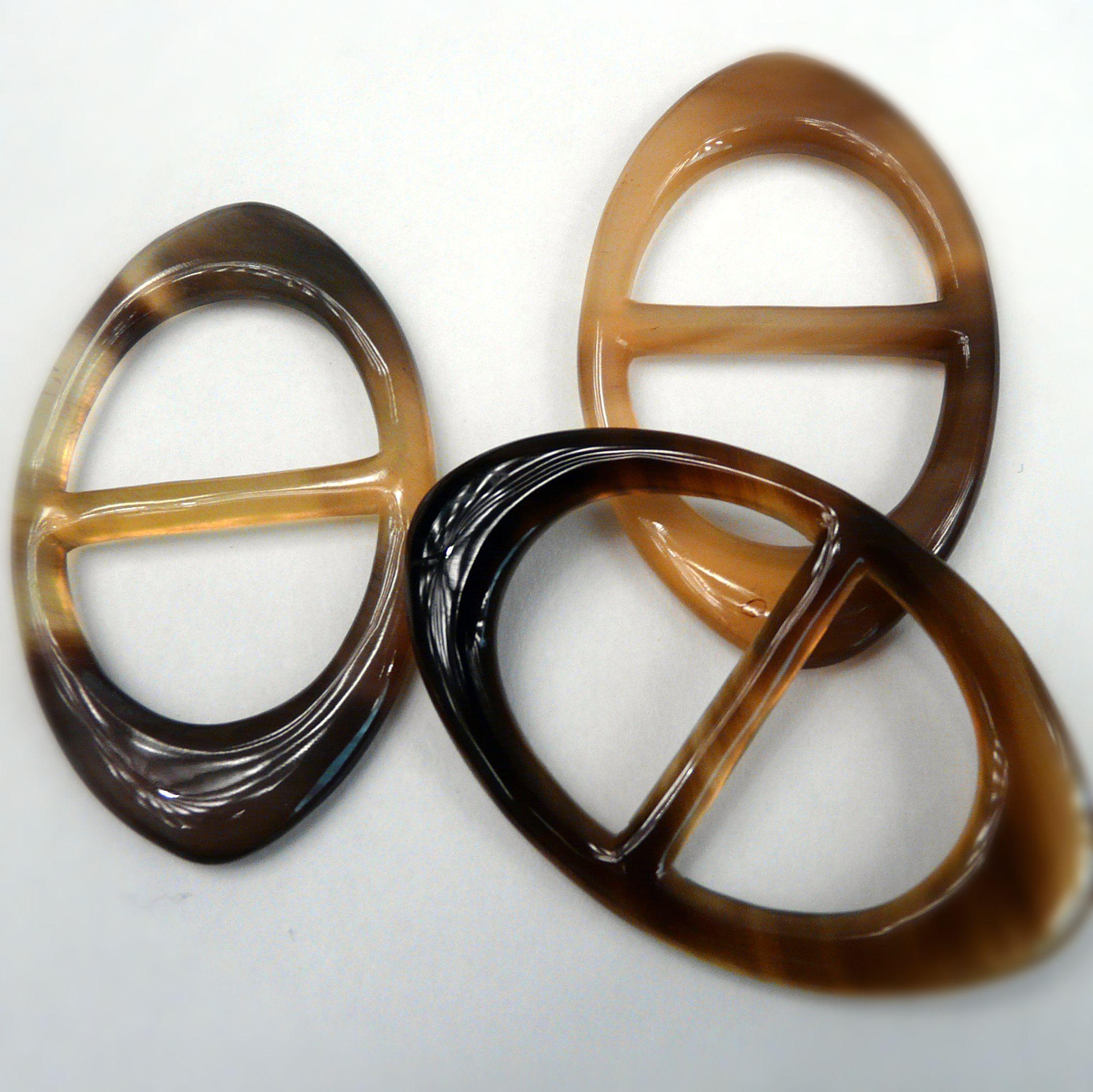 Anneau Classique Horn Scarf Ring by Carre de Paris