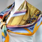Rafales HERMES Scarf Blues and Orange