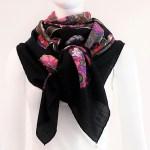Anemones HERMES Vintage Cashmere Silk 55 inch scarf