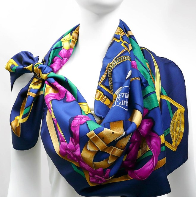 Grand Manege HERMES Paris Silk Scarf