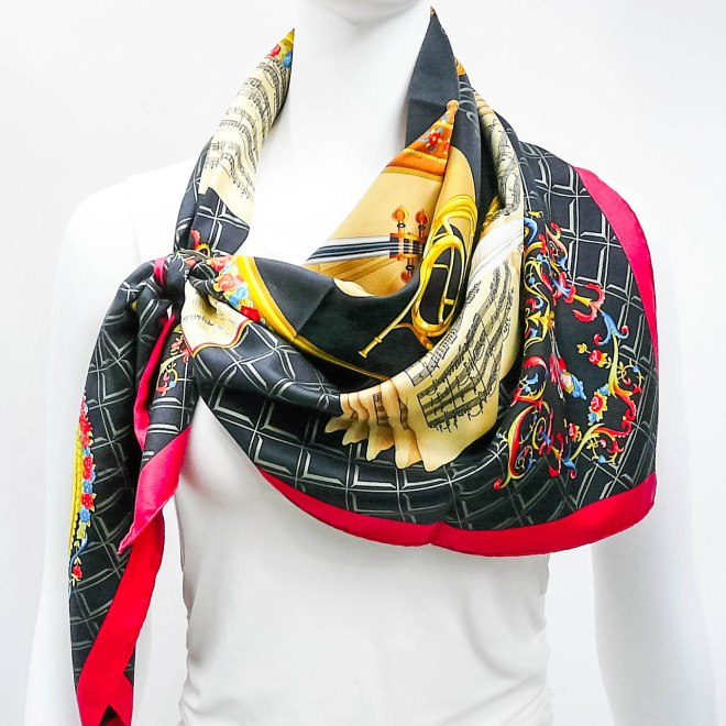 Hommage a Mozart HERMES Silk Scarf