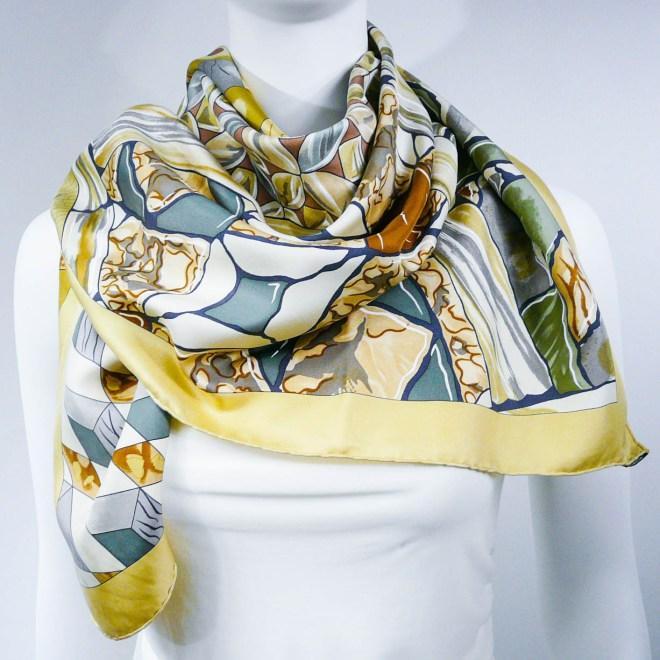 Authentic Vintage Hermes Silk Scarf Trophees de Venise II
