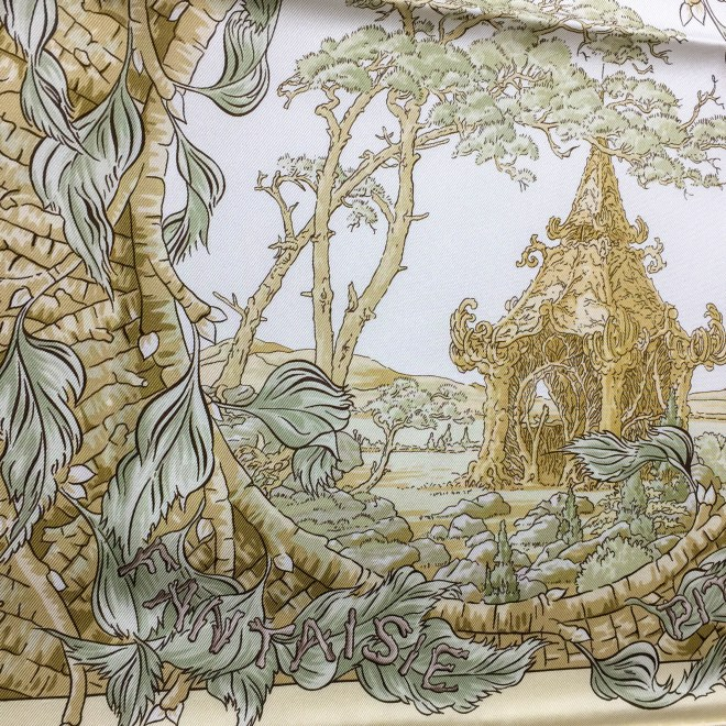 Fantaisie Pittoresque HERMES Silk Scarf